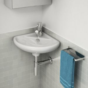 Delia Cloakroom Corner Basin 1 Tap Hole 310mm