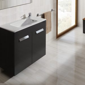 Roca Debba Compact 805mm Wall Mounted Door Unit & Rectangular Basin In Three Colours