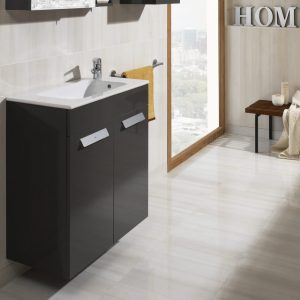 Roca Debba Compact 605mm Wall Mounted Door Unit & Rectangular Basin In Two Colours
