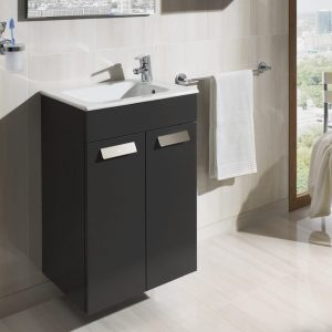 Roca Debba Compact 505mm Wall Mounted Door Unit & Basin