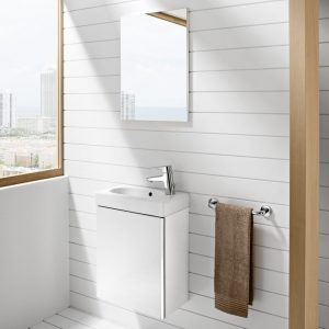 Roca Mini 450mm, Wall Mounted Vanity unit, Basin & Free Mirror