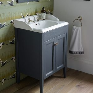 Dorchester Caversham 600mm Floor Standing Door Unit & Basin In Five Colours