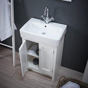 Hampton 550mm Floor Standing Vanity Unit & Basin In Six Colours