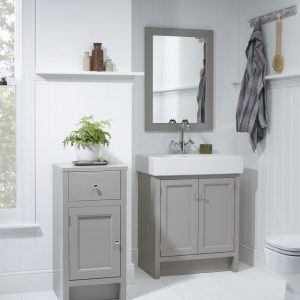 Hampton 700mm Floor Standing Door Unit & Rectangular Basin In Five Colours