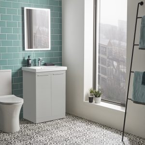 Tanya 500mm Floor Standing Door Unit & Rectangular Basin In Four Colours