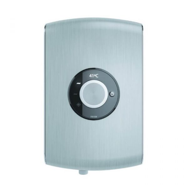 Triton Amore Electric Shower In Brushed Steel 8.5 & 9.5 kw