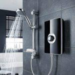 Triton Aspirante Electric Shower In Black Gloss 8.5 & 9.5 kw Lifestyle