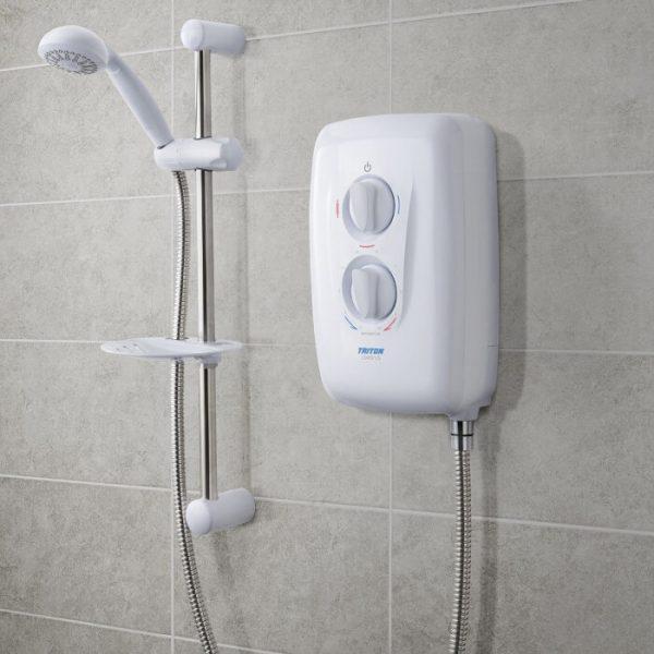 Triton Avena 8.5kW Electric Shower - White & Chrome