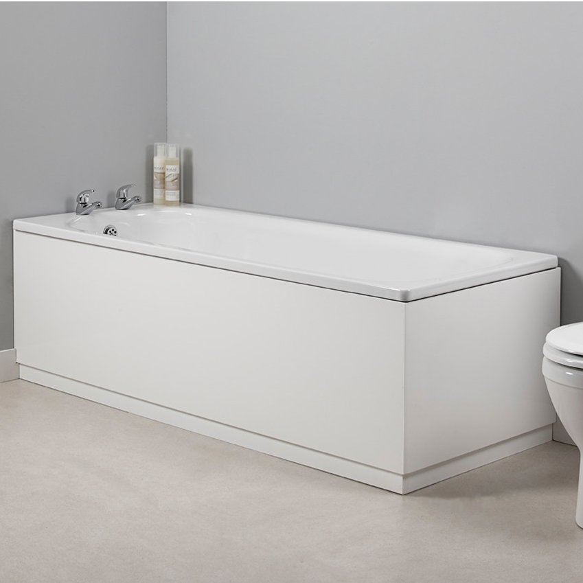 roper rhodes polar wood front bath panel 1700mm in gloss white. Black Bedroom Furniture Sets. Home Design Ideas