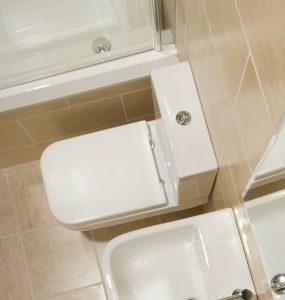 Serena Square Close Coupled Toilet & Soft Close Seat
