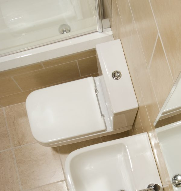 Serena Square Close Coupled Toilet & Soft Close Seat