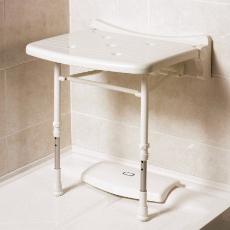 AKW Wall Mounted Shower Stool With Legs