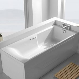 Axis Low Access Bath Single Ended Twin Gripped 5mm 1700x700mm