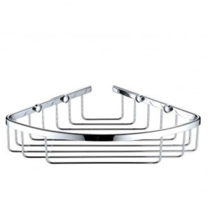 Bristan Corner Wall Fixed Wire Basket In Chrome