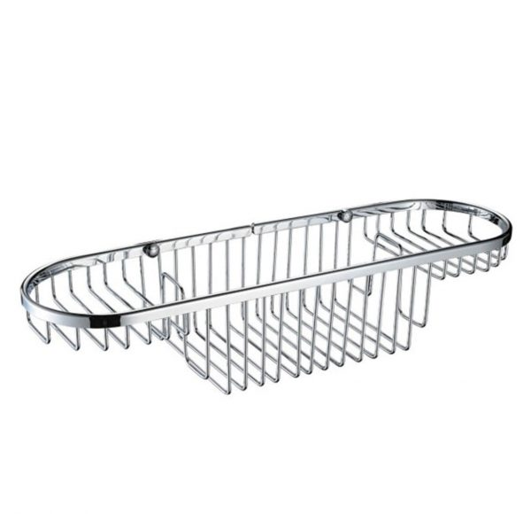 Bristan Large Wall Fixed Wire Basket In Chrome