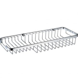 Bristan Medium Wall Fixed Wire Basket In Chrome
