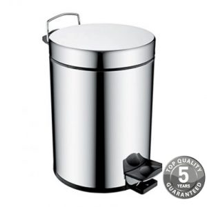 Bristan Pedal Waste Bin 5 Litre In Chrome