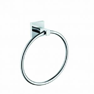 Bristan Square Towel Ring in Chrome