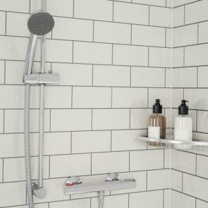 Bristan Zing HP Thermostatic Mixer Shower With Slide Rail Kit