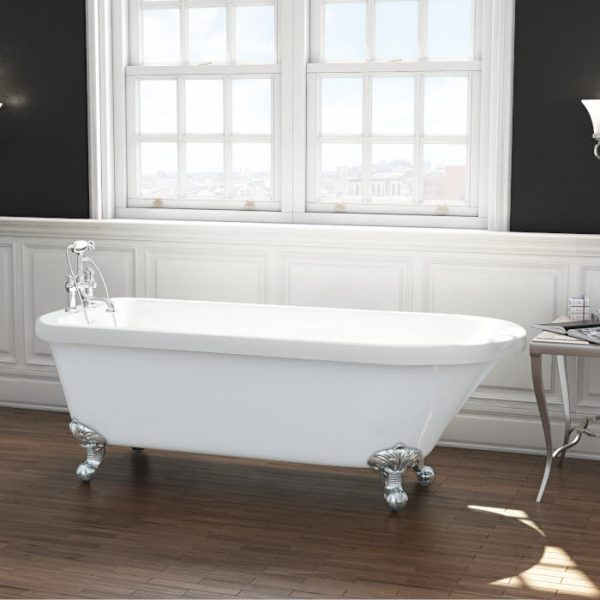 Cambridge Single Ended Freestanding Bath 1470x735mm