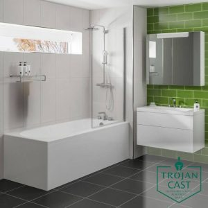 Casper Bath Single Ended Trojancast 1700x700mm In White