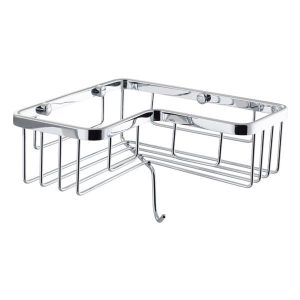 Cassellie Corner Wire Basket with Hook In Chrome
