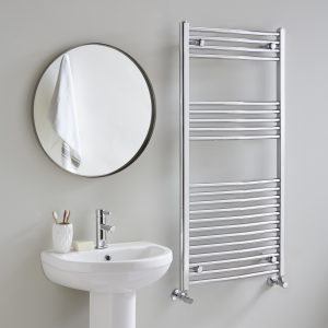 Ladder Chrome Curved Towel Rail 22mm 500 Wide Multiple Heights