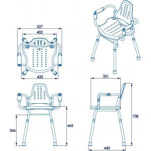 Croydex Adjustable Height Care Shower Stool