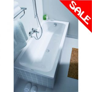 D-Code Bath Single Ended 5mm 1700x750mm In White