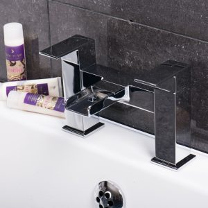 Eclipse Waterfall Square Bath Filler Tap In Chrome
