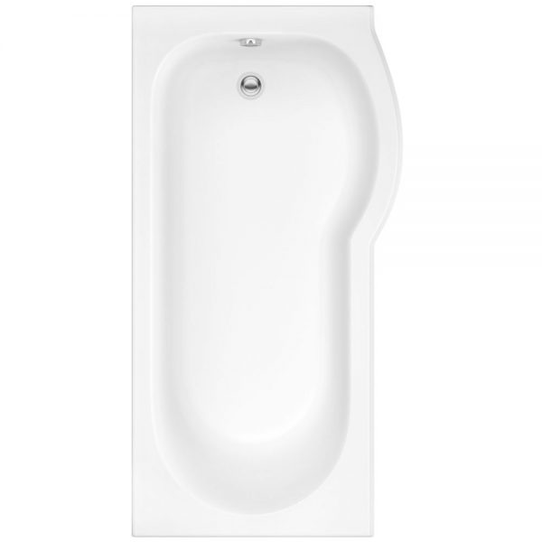 Pura Estelle P Shaped Shower Bath Pack 5mm 1500x750mm In White