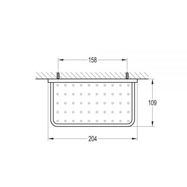 Flova Sofija Double Soap Dish 205mm In Chrome size