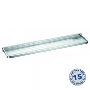 Flova Sofija Frosted Glass Shelf 600mm In Chrome