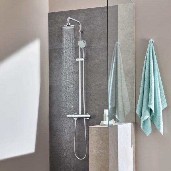 Grohe CT2 HP Dual Outlet Thermostatic Mixer Shower
