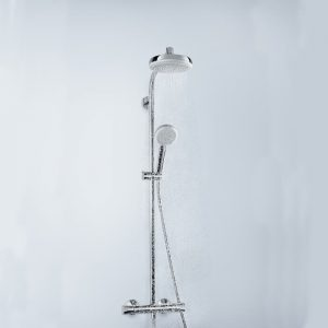 Hansgrohe Crometta Round HP Dual Outlet Thermostatic Mixer Shower