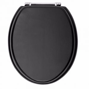 Heritage-Toilet-seat-Graphite-With-Chrome-Hinges