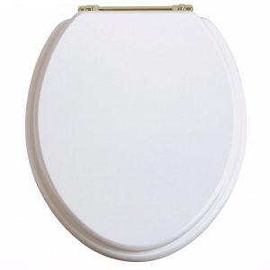 Heritage-Toilet-seat-White-Ash-With-Vintage-Gold-Hinges