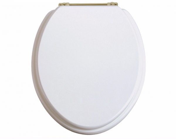 Heritage Toilet Seat With Gold Hinges Various Colours