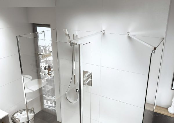 IN10 Wetroom Square Bracing Arm Options 8mm or 10mm In Chrome