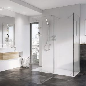 IN10 Wetroom Panel 10mm In Chrome 400, 500, 600, 700, 760, 800, 900, 1000, 1100, 1200, 1400mm