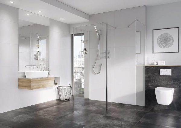 IN10 Wetroom Panel 8mm In Chrome 400, 500, 600, 700, 760, 800, 900, 1000, 1100, 1200, 1400mm