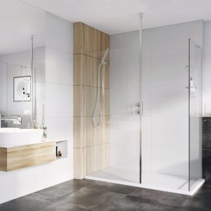 IN10 Wetroom Panel 8mm In Chrome 400, 500, 600, 700, 760, 800, 900, 1000, 1100, 1200mm