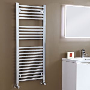 Loren Designer Towel Rail 500 Wide In Chrome Multiple Heights