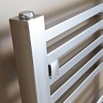 Loren Designer Towel Rail 500 Wide In Chrome Multiple Heights close up