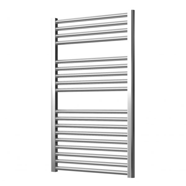 Deluxe Towel Rail 25mm Straight 600 Wide In Chrome Multiple Heights