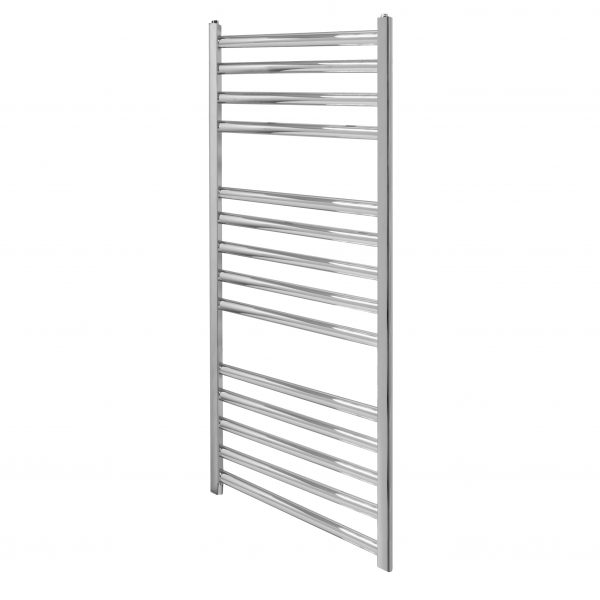 Ladder Rail Straight 22mm 400 Wide In Chrome Multiple Heights