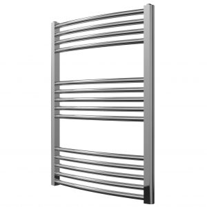 MD Stainless Steel Towel Rail Curved 600 Wide In Chrome Multiple Sizes