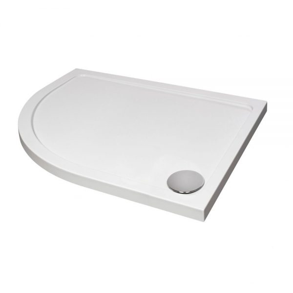 Slimline Offset Quadrant Tray In White Various Sizes (5)