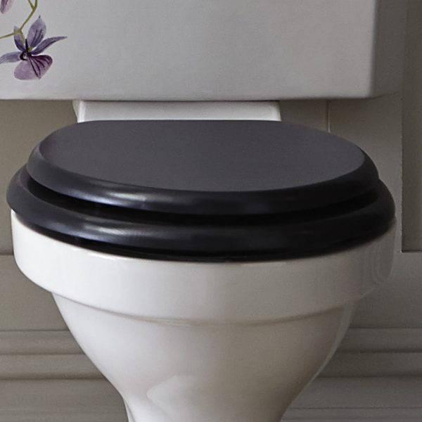 Heritage Toilet Seat With Chrome Hinges - Various Colours
