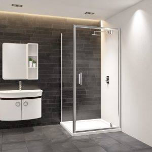 IN8 V2 Pivot Door 8mm In Chrome 760, 800, 900mm